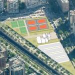 Futuro Polideportivo Monforte de Lemos en el Barrio del Pilar / Peñagrande