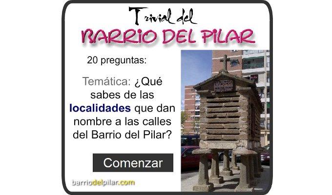 Trivial Barrio del Pilar Localidades
