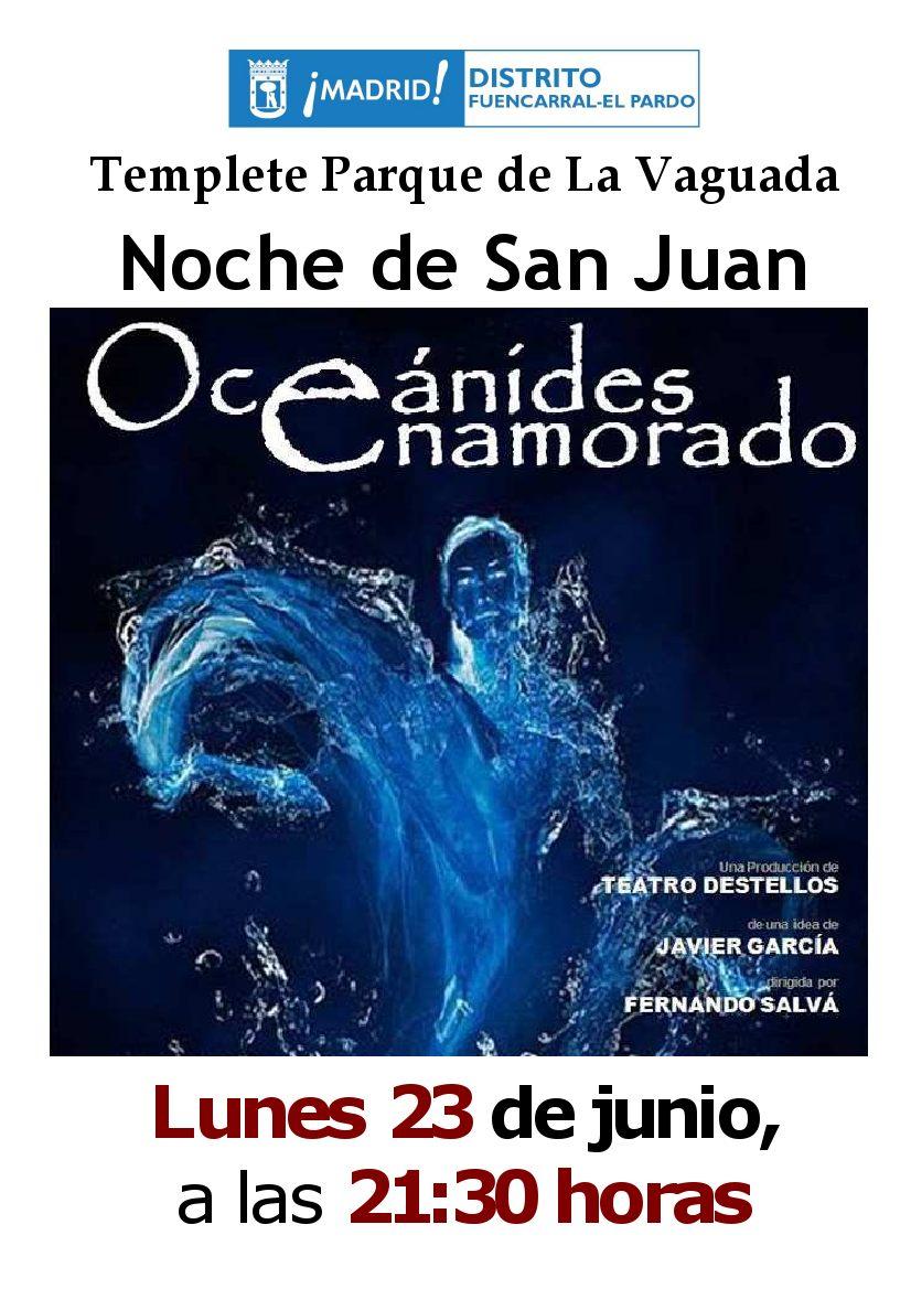 Oceánides enamorado. Teatro Destellos. Parque de La Vaguada