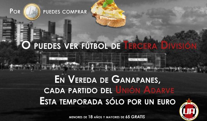 Unión Adarve. Fútbol a 1 euro