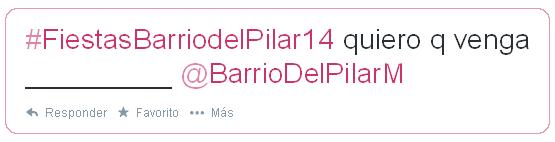¿Que grupo o artista te gustaría que actuara en la Fiestas del Barrio del Pilar 2014?