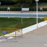 Reparación del estanque del parque de La Vaguada