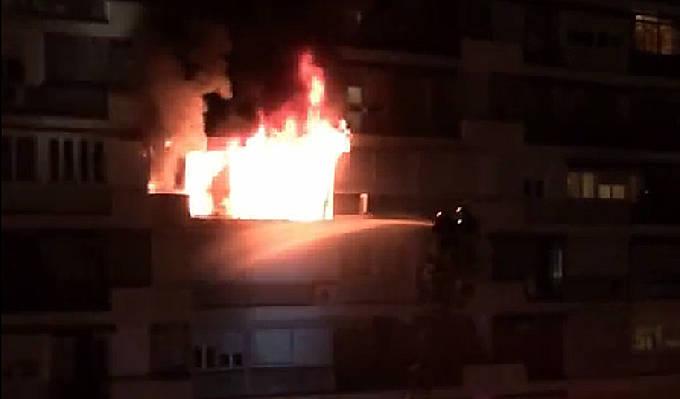 Incendio en edificio calle Puerto de Maspalomas. Barrio del Pilar