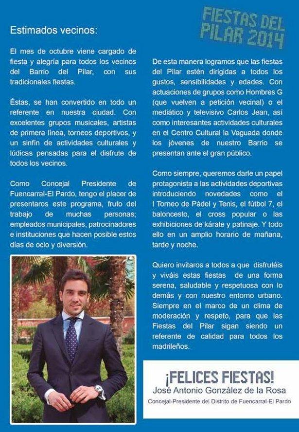 PROGRAMA DE LAS FIESTAS DEL BARRIO DEL PILAR 2014