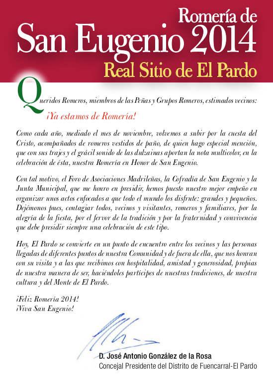 Romería de San Eugenio 2014. Presentación.