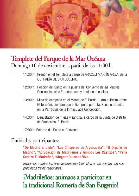 Programa de la Romería de San Eugenio 2014