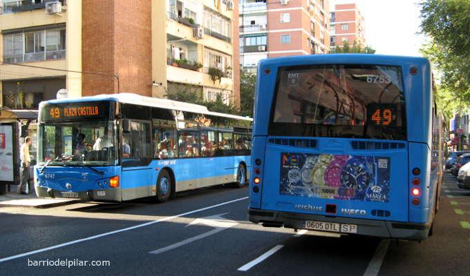 Autobús EMT 49 Barrio del Pilar