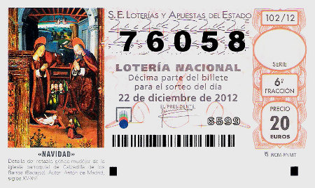 Gordo Lotería Navidad Barrio del Pilar 2012