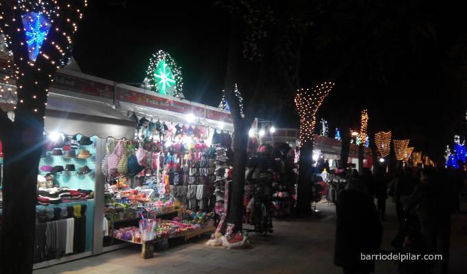 Mercado Navideño del Barrio del Pilar. Navidad 2014-2015