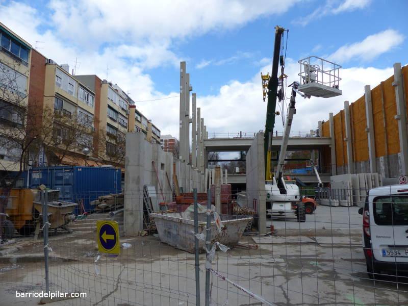 Avanzan los trabajos de construcción del Ahorramás del Barrio del Pilar
