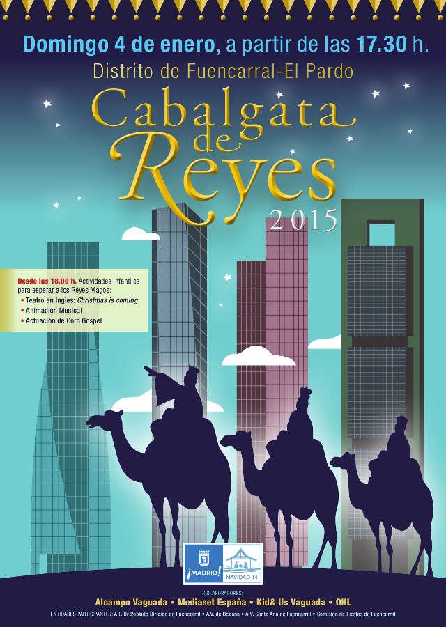 Cartel de la Cabalgata de Fuencarral - Barrio del Pilar 2015