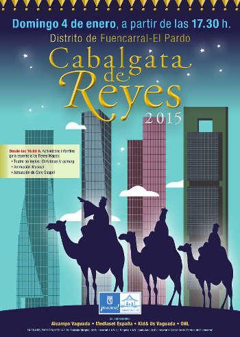 Cartel Cabalgata Barrio del Pilar 2015