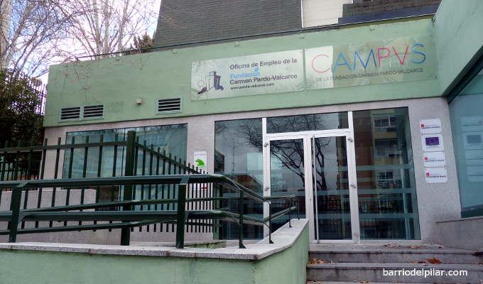 Ex-biblioteca Caja Madrid del Barrio del Pilar. Fundación Carmen Pardo Valcarce