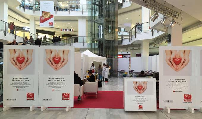 Campaña de donación de sangre de Cruz Roja en La Vaguada