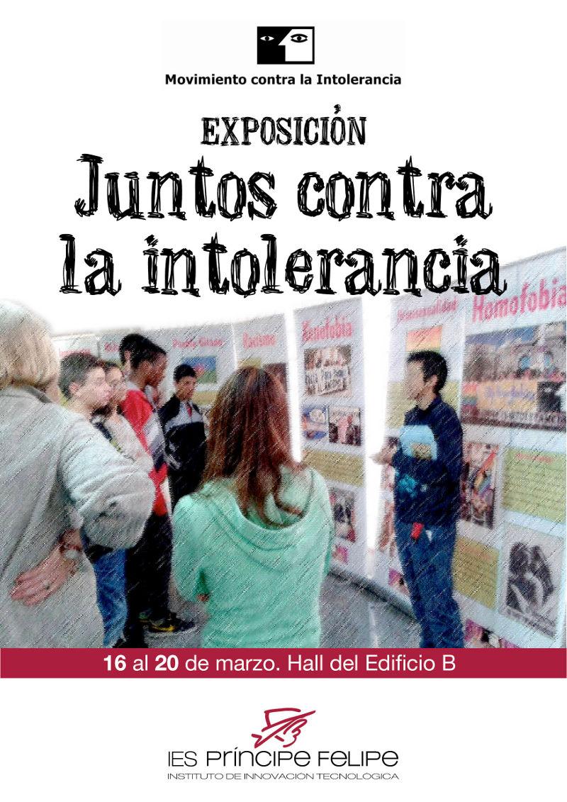 Cartel de la exposición 'Juntos contra la Intolerancia' en el IES Príncipe Felipe