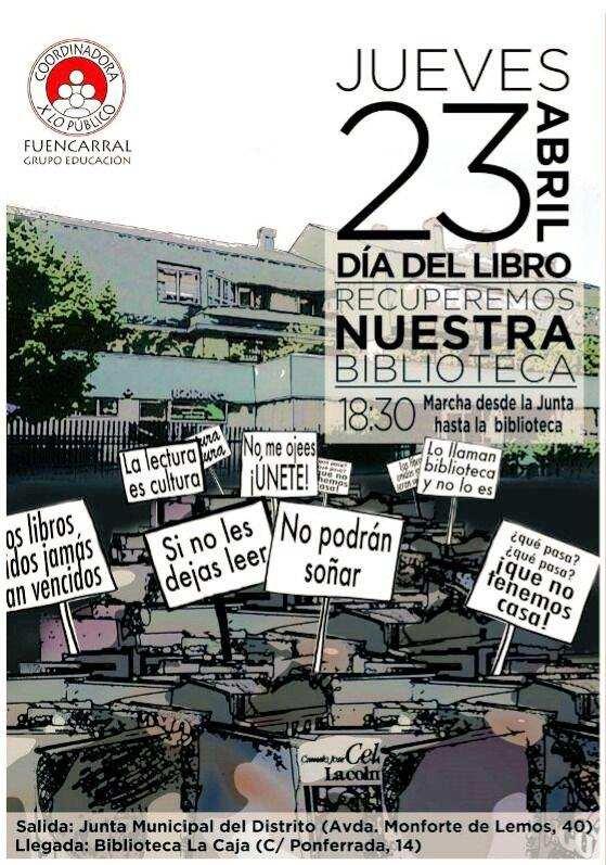 Reivindicación por la biblioteca Caja Madrid del Barrio del Pilar