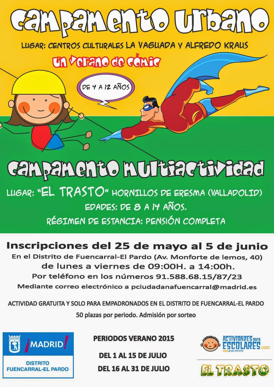 Campamentos de Verano 2015 del distrito de Fuencarral-El Pardo