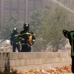 Incendio de pastos en Fuencarral