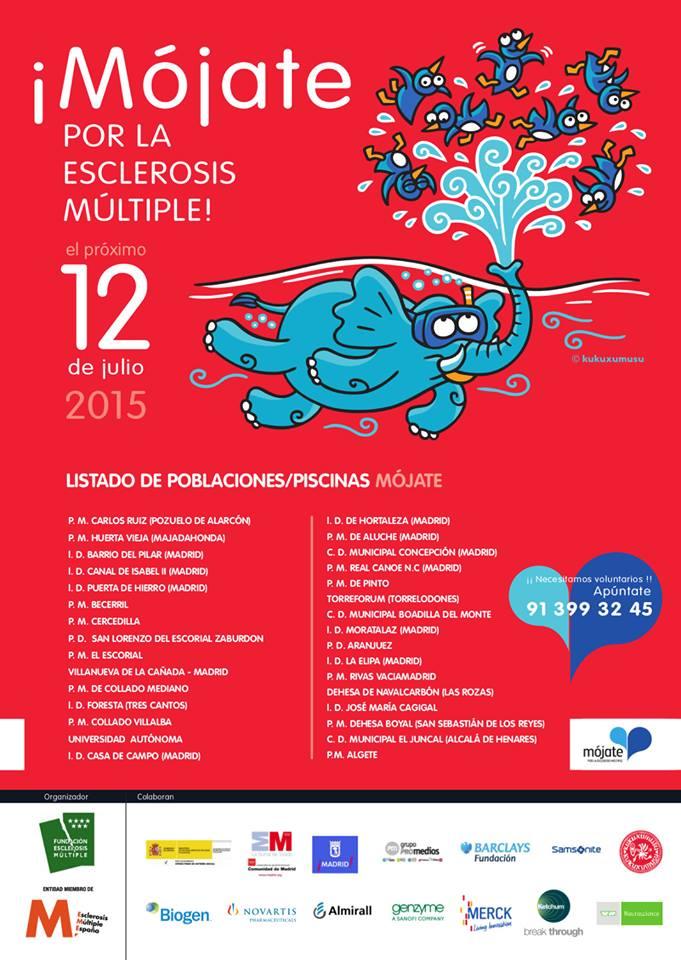 Cartel Mójate por la Esclerósis Múltiple
