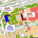 Zona de carpas y casetas de las Fiestas del Barrio del Pilar 2015