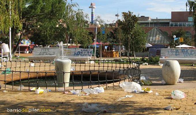 Parque de la Vaguada. Suciedad después de las fiestas