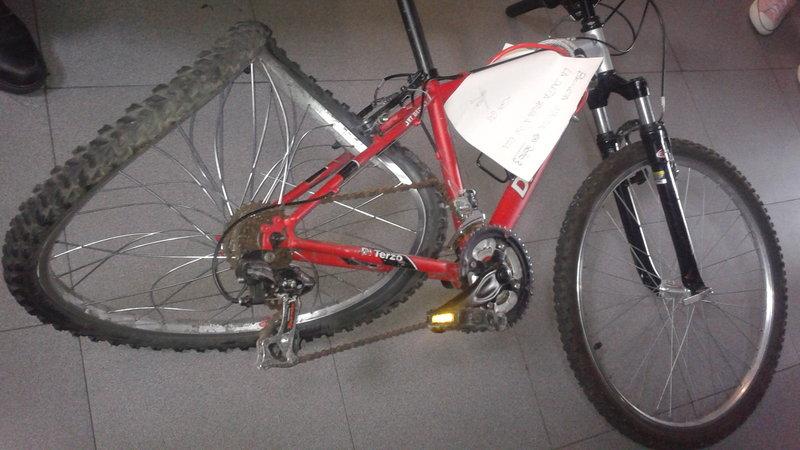 Accidente de bici en avenida de Asturias