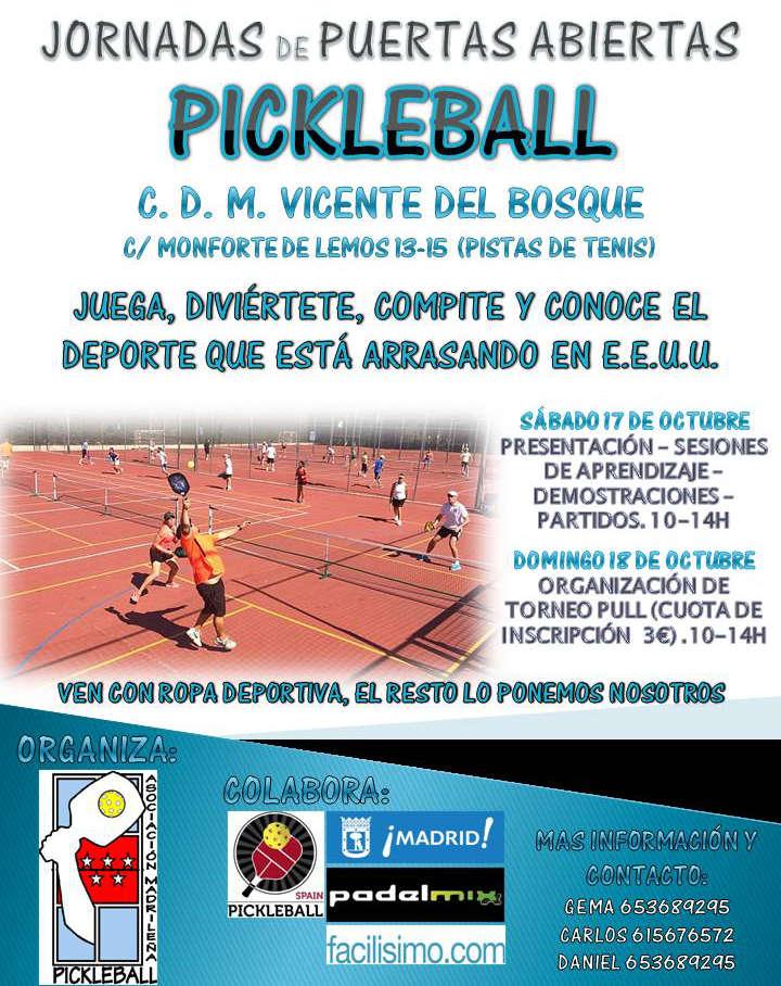 Pickleball. Polideportivo Vicente del Bosque - Barrio del Pilar