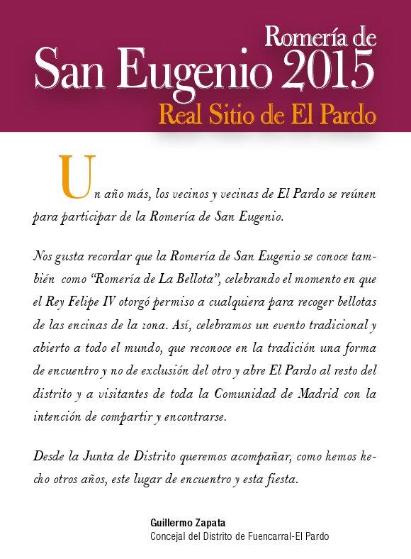 Presentación de la Romería de San Eugenio en El Pardo