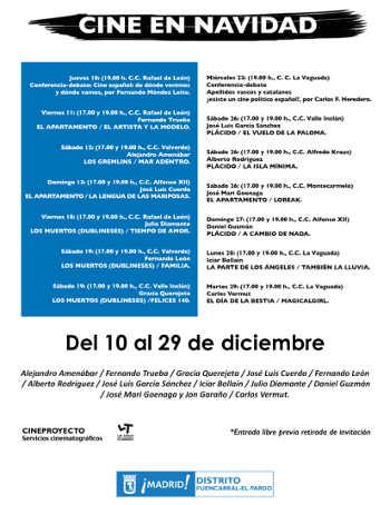 Cine en Navidad 2015 en Fuencarral-El Pardo