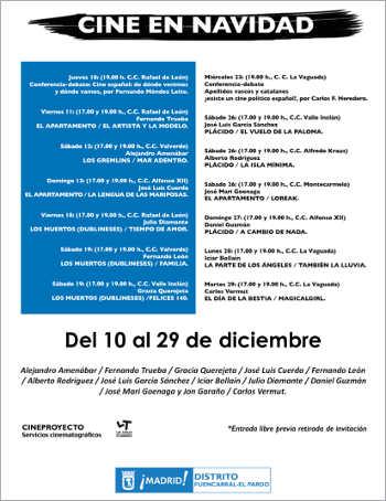 Cine en Navidad Fuencarral-El Pardo