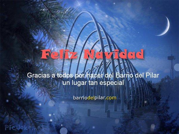 Feliz Navidad. Barrio del Pilar