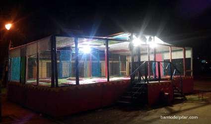 Navidad en el Barrio del Pilar. Camas elásticas