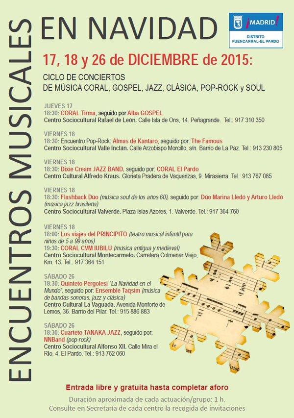 Encuentros Musicales de Fuencarral-El Pardo Navidad 2015