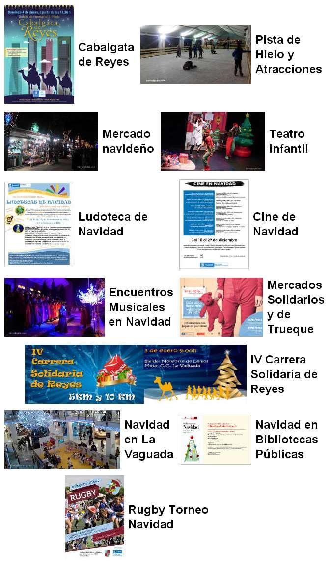 Programación Navidad 2015 en el Barrio del Pilar
