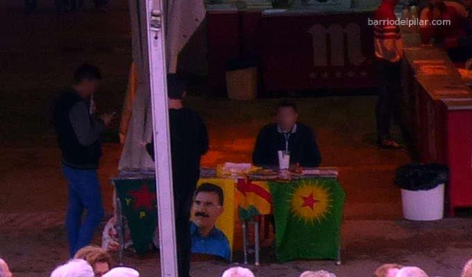 Mesa apoyo PKK Fiestas del Barrio del Pilar 2016