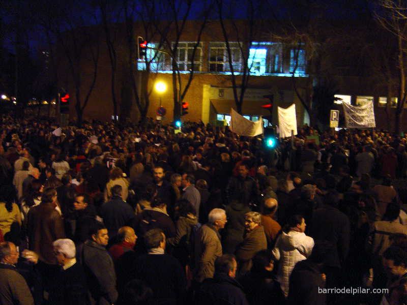 Manifestación antiparquímetros Barrio del Pilar. 3 de marzo de 2016