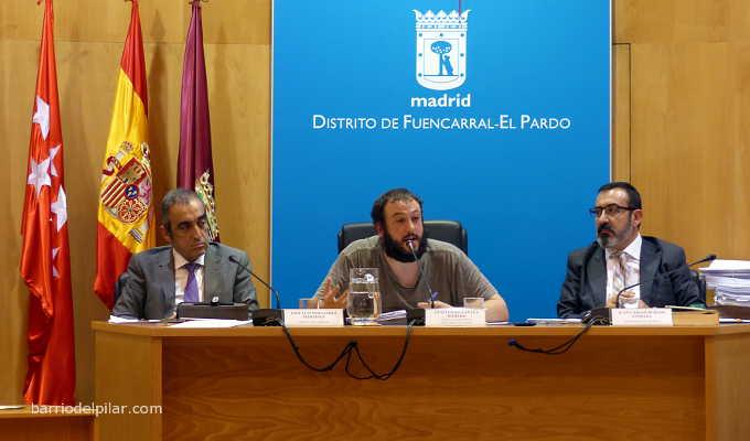 Pleno del Distrito de Fuencarral-El Pardo. Guillermo Zapata