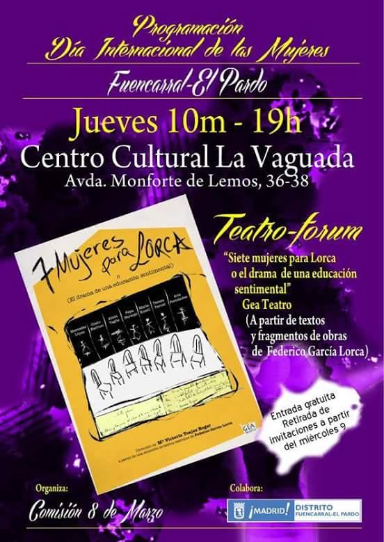 Día de la Mujer 2016. Fuencarral-El Pardo. 10 de marzo