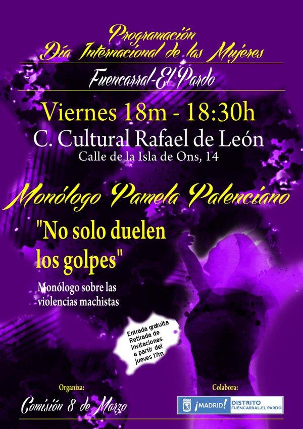 Día de la Mujer 2016. Fuencarral-El Pardo. 18 de marzo
