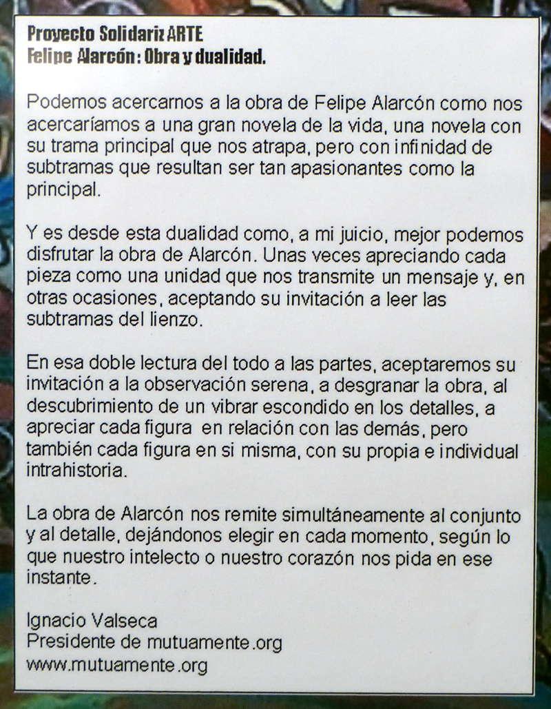 'Obra y dualidad' de Felipe Alarcón. Introducción de Ignacio Valseca