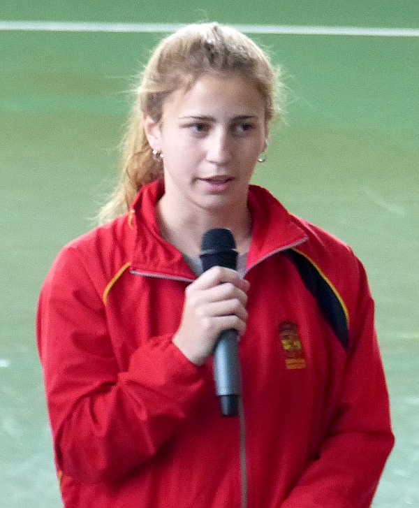 Alicia Magaz. Jugadora de la selección española de Hockey