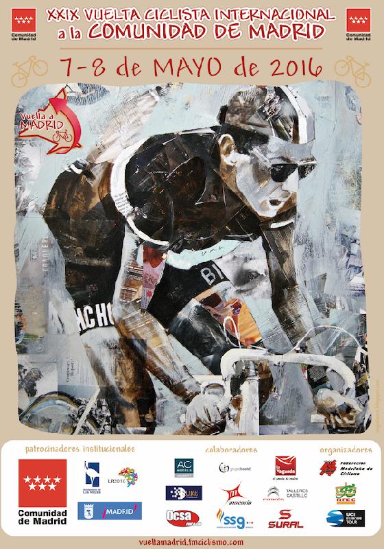 Cartel Vuelta Ciclista a Madrid 2016