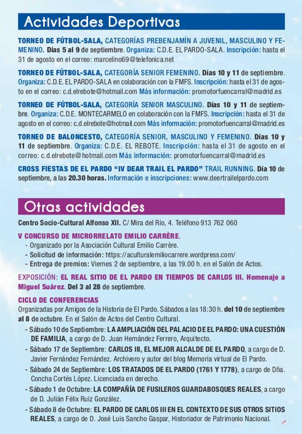 Programa de las Fiestas de El Pardo 2016