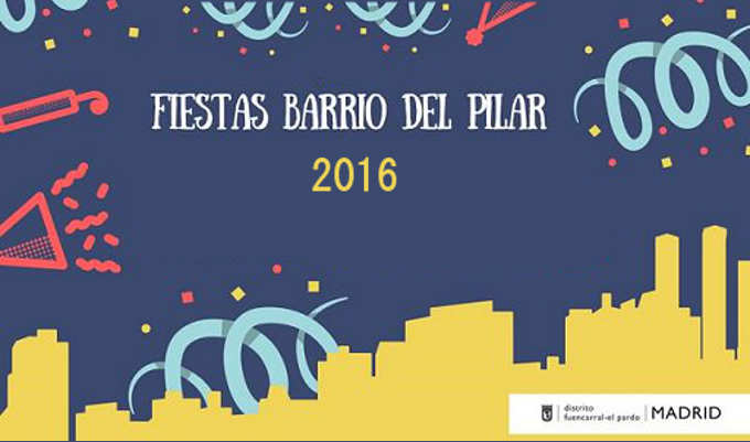 Cartel Fiestas del Barrio del Pilar 2016