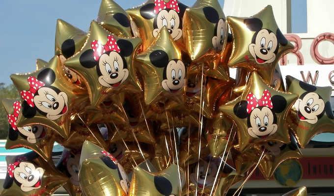 Globos de Minnie dorados