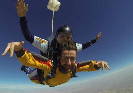Salto tándem en paracaídas