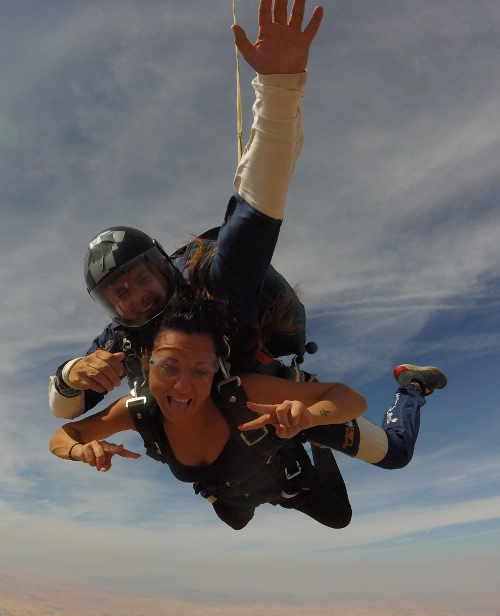 Salto en tándem paracaídas