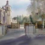 Palacio de El Pardo. IX Certamen de Pintura Rápida de El Pardo