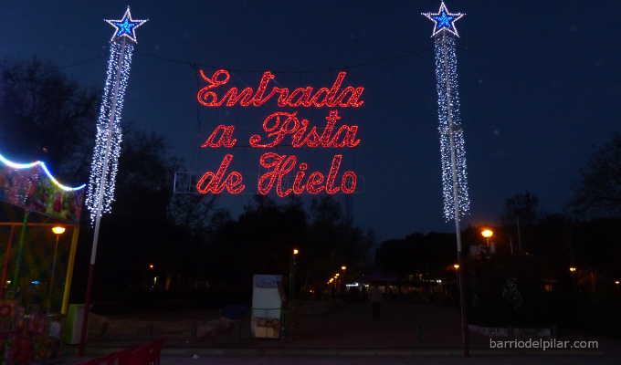 Pista de Hielo en el Parque de La Vaguada